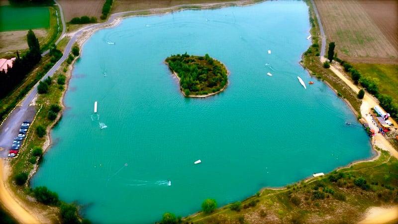 Téléski nautique à Lamotte du Rhône